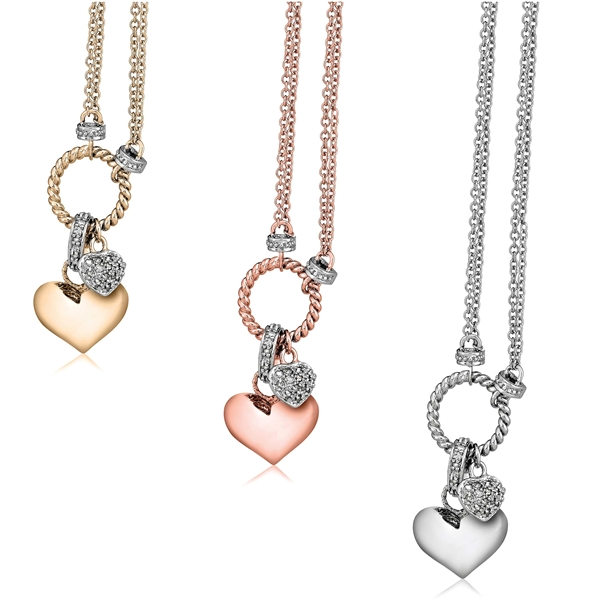 Jasco Designs Victoria Townsend heart charm necklace