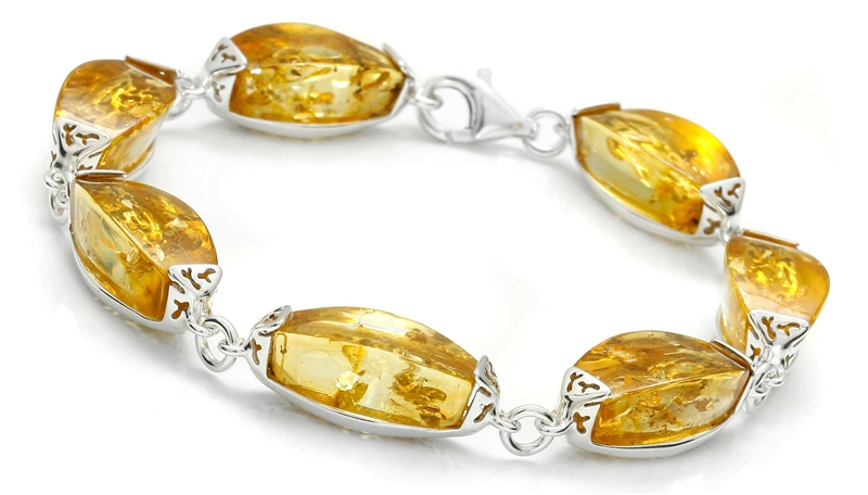 GIELO lemon Baltic amber bracelet
