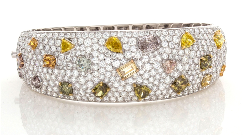 William Levine fancy and pave diamond bracelet