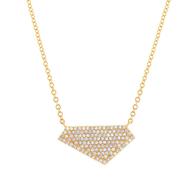 Shy Creation Kate pave diamond pendant