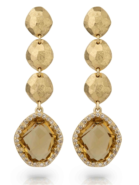 Vianna BRASIL Panorama citrine drop earrings