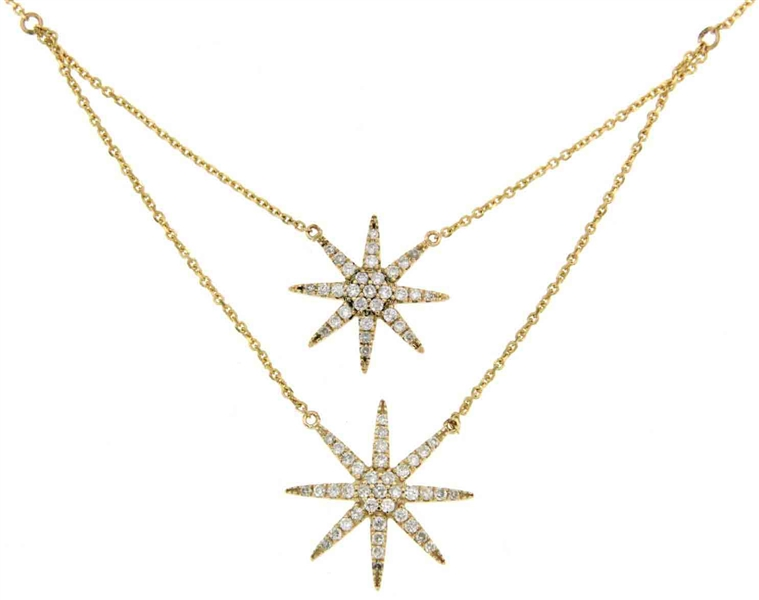 WYS Jewelry double diamond star necklace