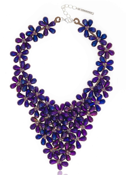 Lewanowicz Great Gatsby floral bib necklace
