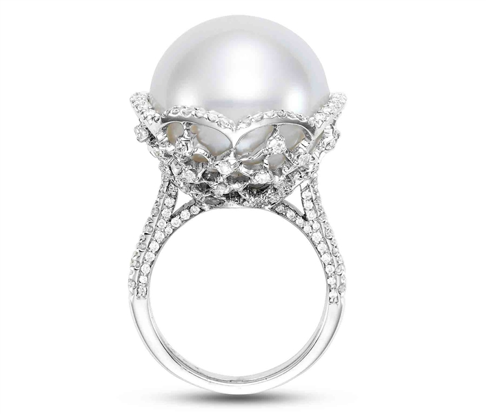 Mastoloni Pearls Signature collection lacy pearl cocktail ring
