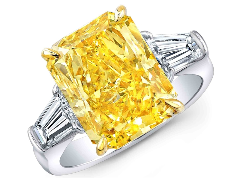 Rahaminov Diamonds Saxum fancy yellow diamond cocktail ring