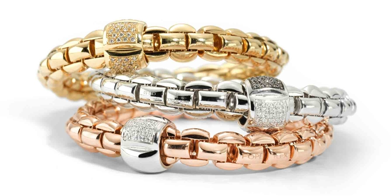 Fope Eka collection diamond stacking bracelets