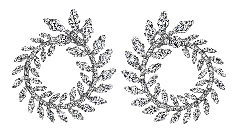 Sasha Primak diamond wreath earrings