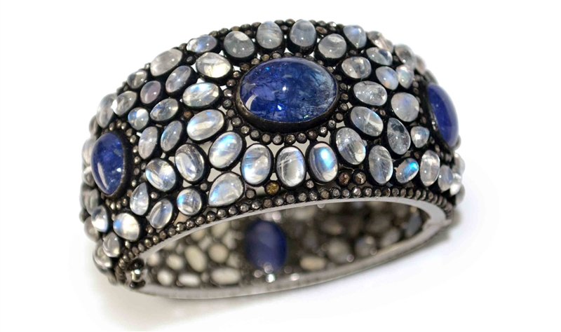 Millennium Design tanzanite and moonstone bracelet