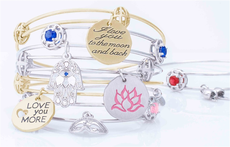 Rembrandt Charms stacking bangle charm bracelets