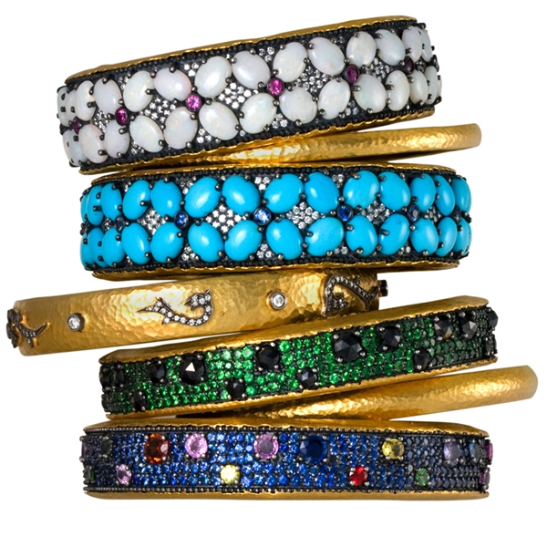 ZDNY & Co. multicolor gemstone stacking bangles