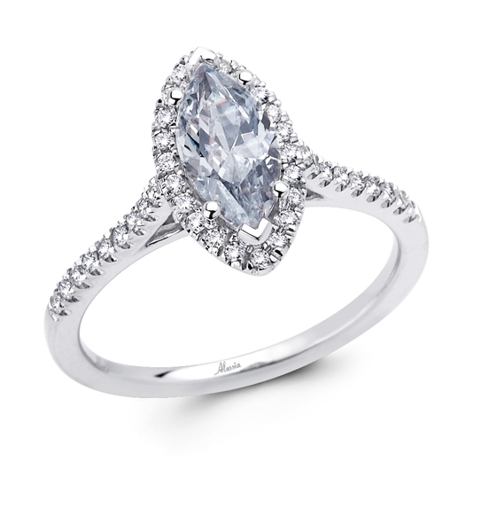 Alessia Design marquise-cut diamond engagement ring