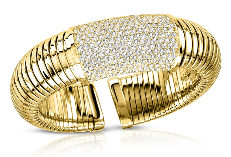 A and P Afarin Bella pave diamond tube bracelet