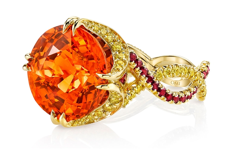 Omi Prive spessartite ring