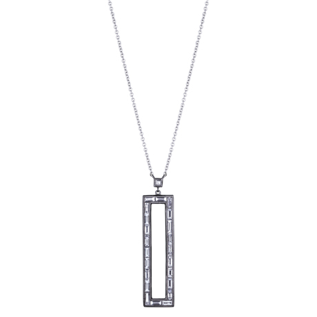 Rectangular diamond pendant from Sethi Couture