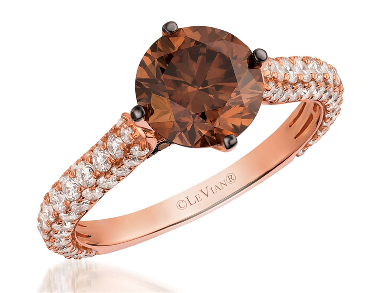 Le Vian Couture Chocolate Diamonds pave engagement ring