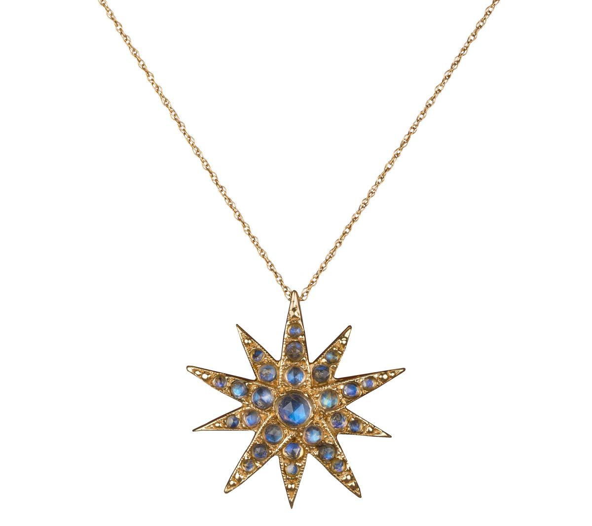 Blackbird and the Snow Celestial Star necklace