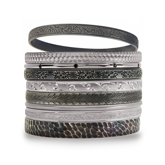 Bangles in Argentium silver from Stacked New York