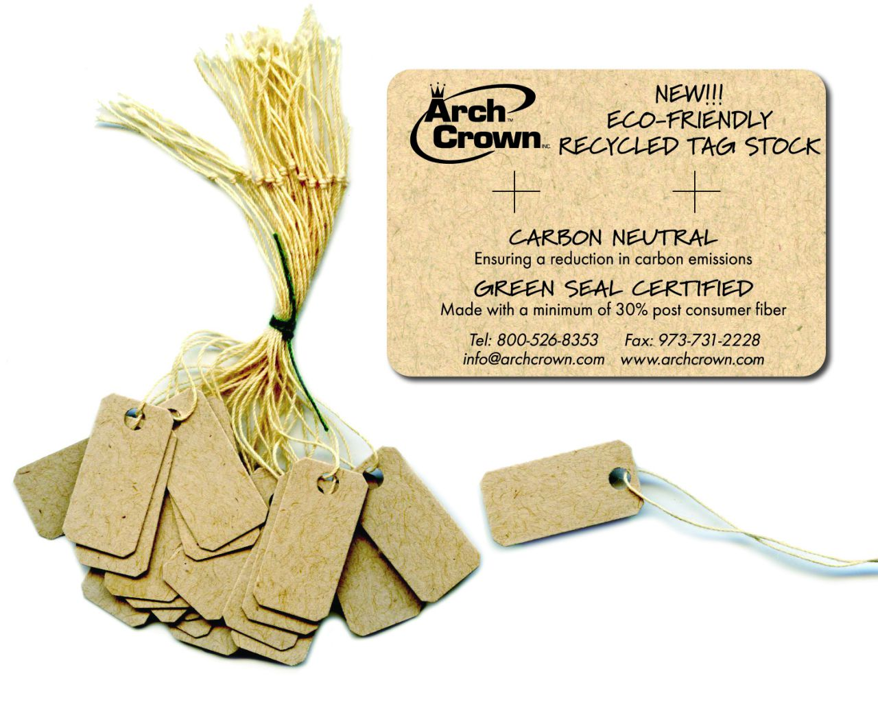 Arch Crown eco-friendly jewelry tags