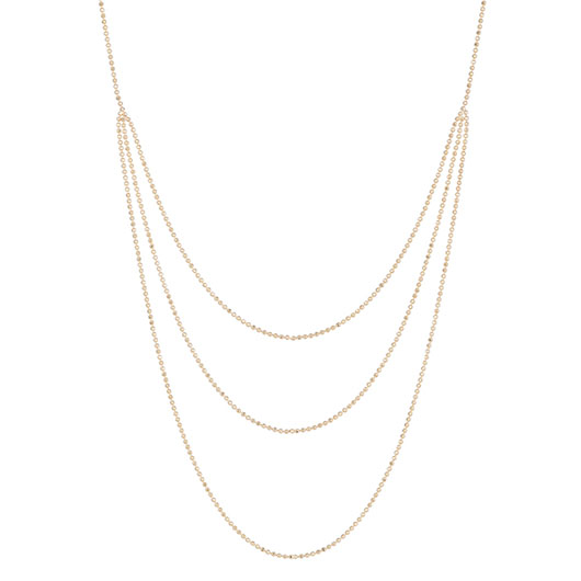 Layered necklace in 14k yellow gold from Ariel Gordon