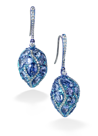 Arunashi earrings with diamonds and precious stones