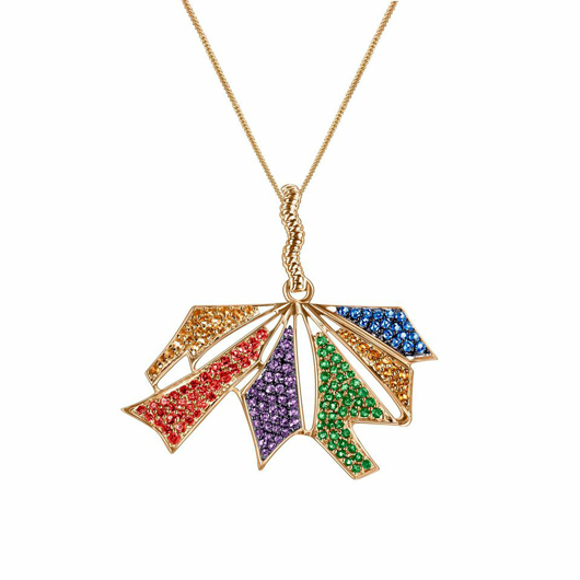 Arya Esha's Windsor pendant necklace in 14k recycled gold with gemstones celebrates the SCOTUS decision on same-sex marriage