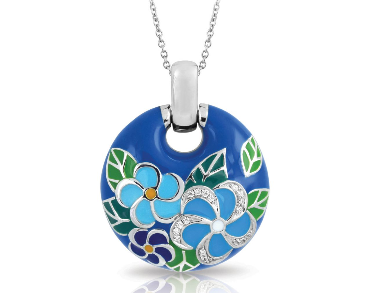 Belle Etoile Melia collection blue circle pendant