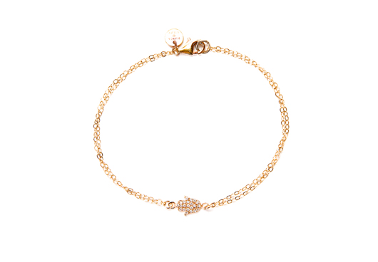 Bianca Milov Hamsa bracelet for breast cancer