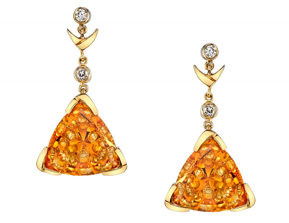 Mark Schneider Design bubble citrine earrings