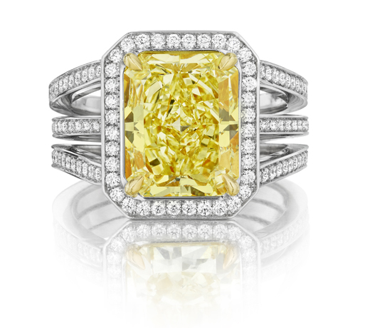 One-of-a-kind Clara diamond ring from Leo Ingwer