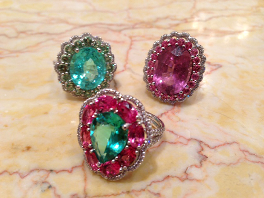 High-end gemstone rings from Bella Campbell, kaiser_bella@yahoo.com