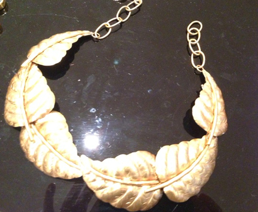 Gold-plated bronze necklace from Patricia Peckinpaugh