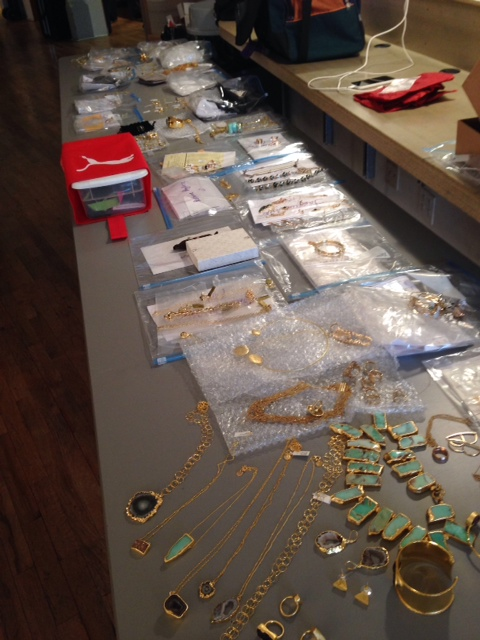 All the gold jewelry we pulled for the photo shoots for the December-January issue of JCK.