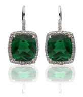 Emerald and diamond earrings by Chopard worn by Julianne Hough to the 2014 Emmys