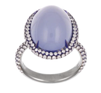 Chalcedony, diamond, and titanium ring worn by Keke Palmer to the 2014 Emmys