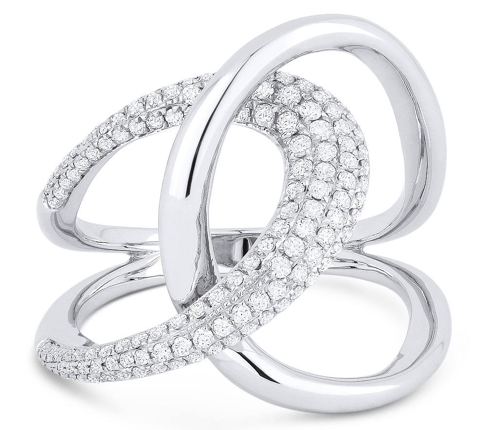 Madison L Designs pave diamond pretzel ring