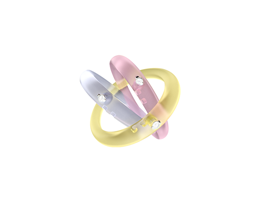 Duepenti Silicone rings with diamonds