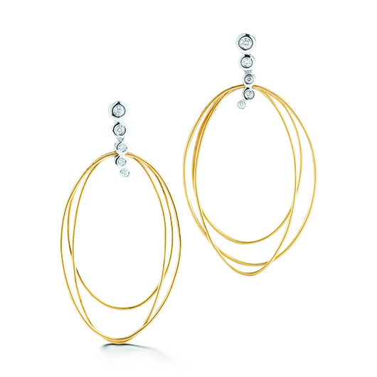 Dana David Scribble Thompson earrings in 18k with diamonds
