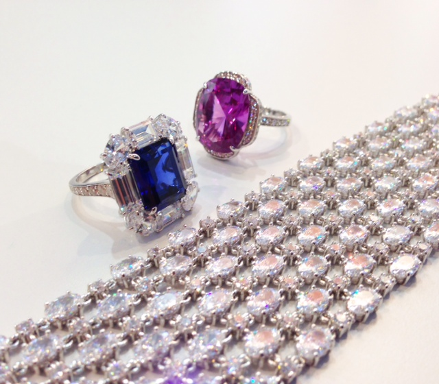 Dani by Daniel K silver, CZ, and lab-created gemstone jewelry at Baselworld 2014