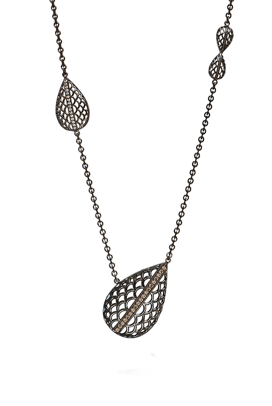 Diana Widman leaf necklace