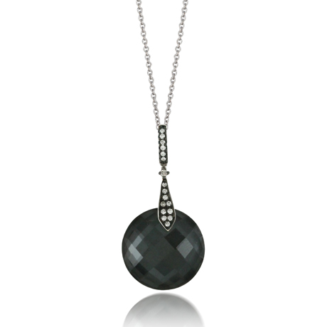 Doves by Doron Paloma pendant necklace with hematite