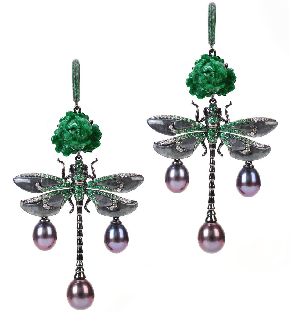 Wendy Yue Dragonfly Dip earrings