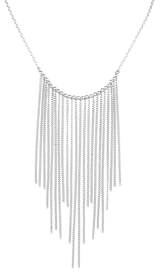Frederic Duclos chainmail fringe necklace in silver