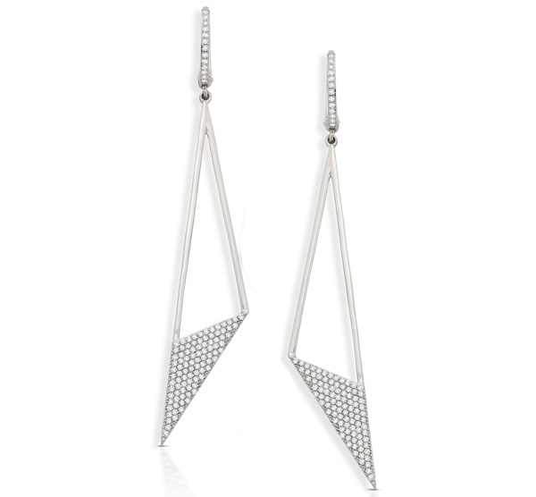 KC Designs pave diamond triangle earrings