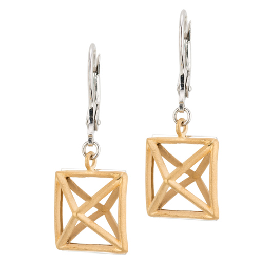 Louvre earrings from Frederic Duclos