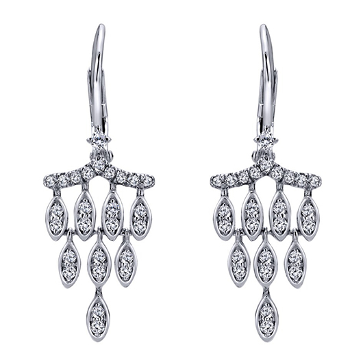 Gabriel Co. diamond and gold mini chandelier earrings