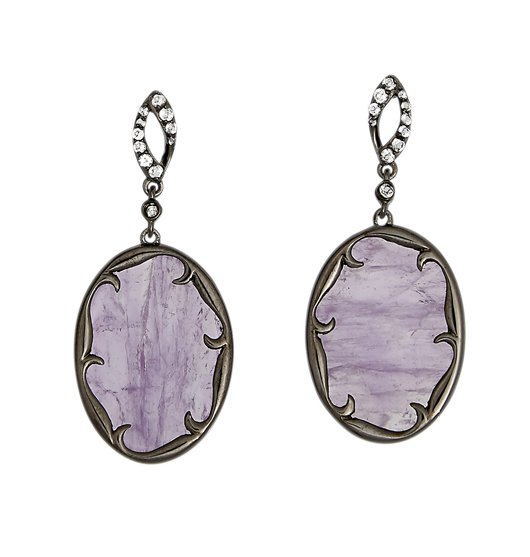 Silver drop earrings with amethyst by Sterling Reputation