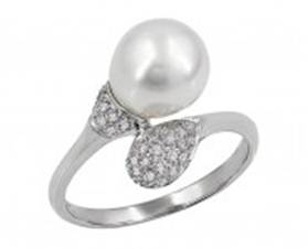 Effy pearl and gold ring