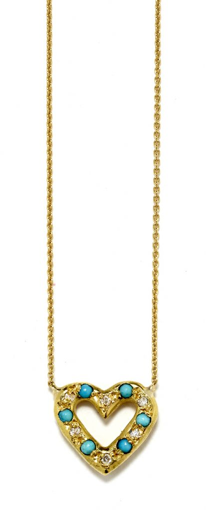 Elisa Solomon turquoise necklace in 18k gold