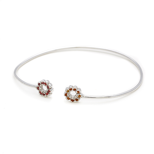 Elisa Solomon  Flower Child bangle in 18k gold with gems
