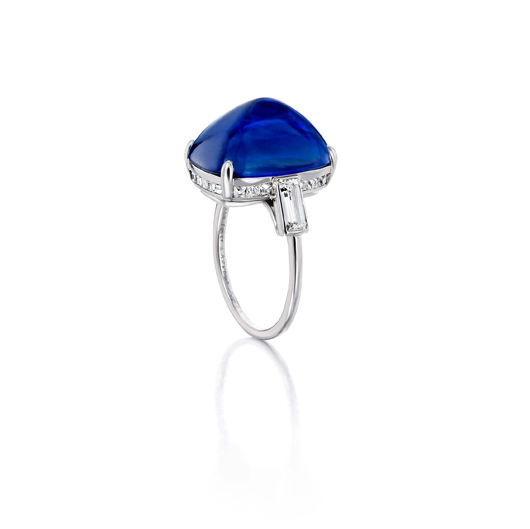 Art Deco ring with a sapphire and diamonds by Van Cleef and Arpels in Paris circa 1929, from Siegelson